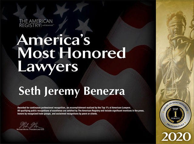 The American Registry: America's Most Honored Lawyers 2020: Seth Jeremy Benezra